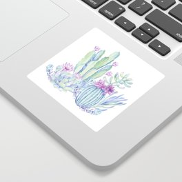 Mixed Cacti White #society6 #buyart Sticker