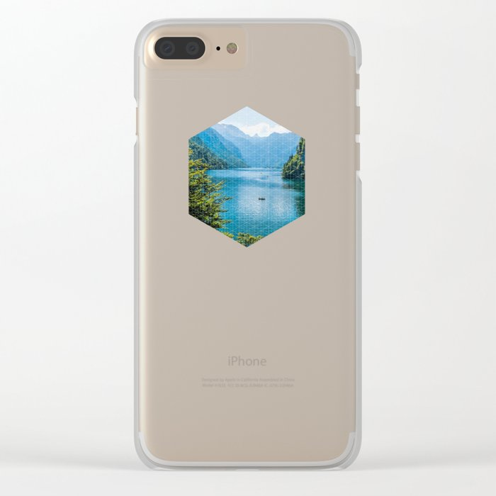 Germany, Malerblick, Koenigssee Lake III- Mountain Forest Europe Clear iPhone Case
