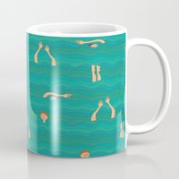 swimming Mugs featuring Swimming by Mimi