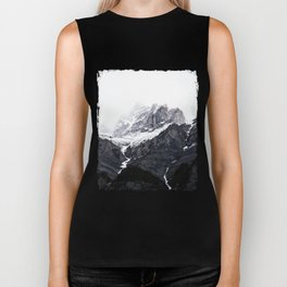 Moody snow capped Mountain Peaks - Nature Photography Biker Tank
