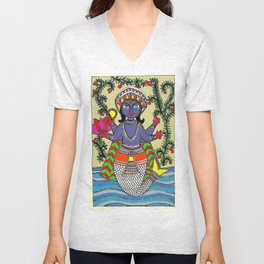 Matsya Avatar of the Hindu God Vishnu Unisex V-Neck