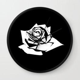 Rose Stencil Wall Clock