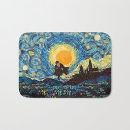 Flaying wizard starry night iPhone 4 5 6 7 8, pillow case, mugs and tshirt Bath Mat