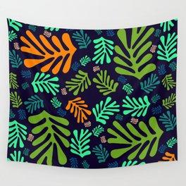 """""""Pattern Spring Night Garden"""" Wall Tapestry"""