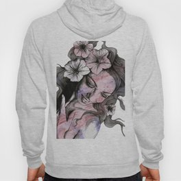In The Year Of Our Lord (smiling flower lady portrait) Hoody