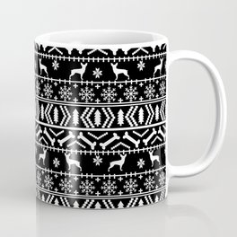 Min Pin fair isle christmas holiday miniature doberman pinscher gifts Coffee Mug