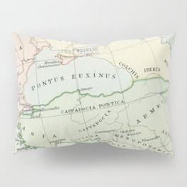 Old Map of The Roman Empire Pillow Sham