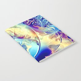 Etched Glass Abstract Notebook