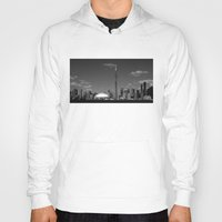 toronto Hoodies featuring Toronto Skyline by Christophe Chiozzi