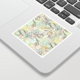 Passport Stamps Sticker