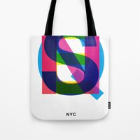 queens of the stone age Tote Bags featuring Queens by Farnell