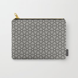 Decorative Triangles Pattern Carry-All Pouch