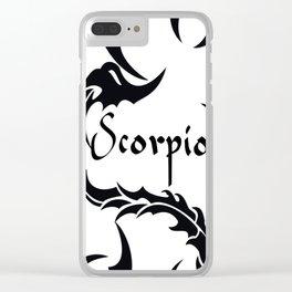 Scorpio Tribal Clear iPhone Case