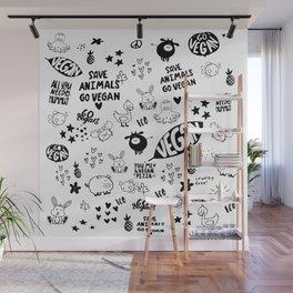 Vegan Pattern Wall Mural