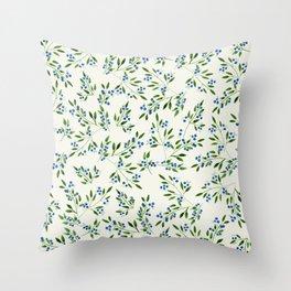 Blueberry Fields Throw Pillow
