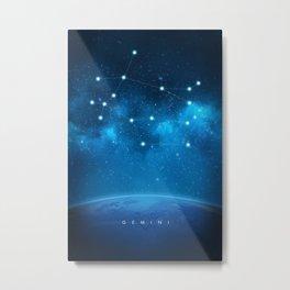 Gemini: Astrological Art Metal Print