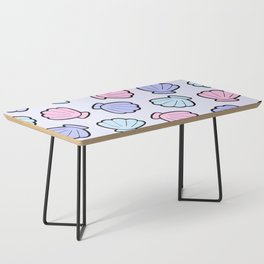 Mermaid Shells Pastel Pattern Coffee Table