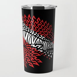 Tribal Scuba Flag Lionfish Travel Mug