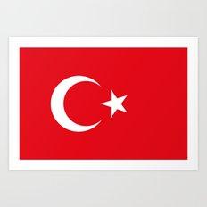 Flag of Turkey Art Print