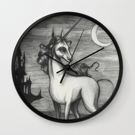 The Last Unicorn Wall Clock