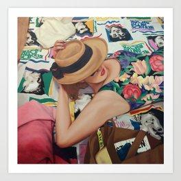 Carina with NKOTB Art Print