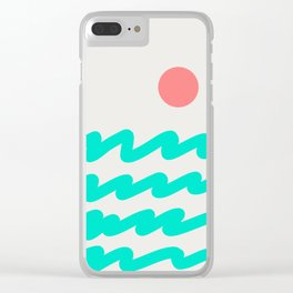 Abstract Landscape 08 Clear iPhone Case