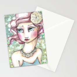 Twin Mermaids with Sand Dollars Stationery Cards