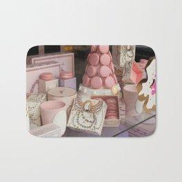 Pink macarons at Laduree Paris Bath Mat