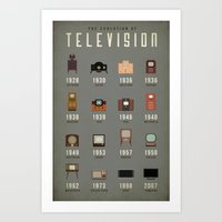 The Evolution of Television Art Print