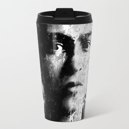 FRIDA KAHLO (BLACK & WHITE VERSION) Travel Mug