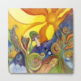 The Dream Whimsical Modern Fantasy Psychedelic Art by Garden Of Delights Metal Print