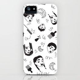 Curl Pattern iPhone Case