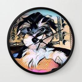 Yorkipoo Penny the cartoon Wall Clock