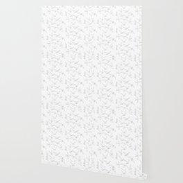 flock - linear birds pattern Wallpaper