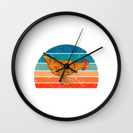 Chick Lover? Here's a cute t-shirt design with a cute illustration of Hen Chicken Rooster T-shirt Wall Clock