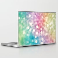 sparkles Laptop & iPad Skins featuring Rainbow Sparkles by Sharon Johnstone