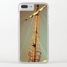 Sailing Vintage Boat in Polanf Clear iPhone Case