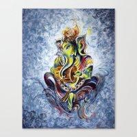 ganesha Canvas Prints featuring Ganesha by Harsh Malik