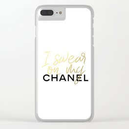 Glamour Decor Clear iPhone Case
