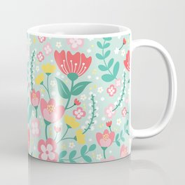 Flower Lovers - Green Coffee Mug
