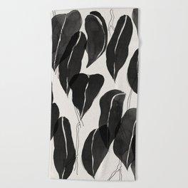 Minimalist Leaves Beach Towel