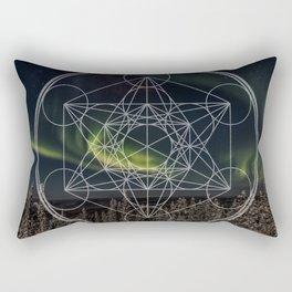 Northern Lights Star Rectangular Pillow