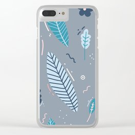 Garden Pattern 2 Clear iPhone Case