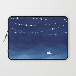 Garland of Stars IV, night sky Laptop Sleeve