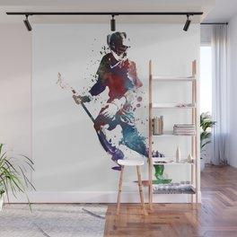 Lacrosse player art 3 Wall Mural