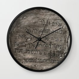 Hebrew 10:34 Wall Clock