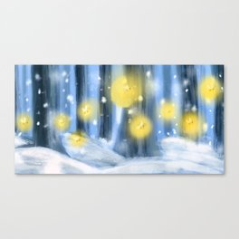 Winter Fireflies Canvas Print
