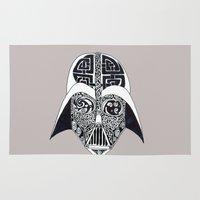 celtic Area & Throw Rugs featuring Celtic Vader by ronnie mcneil