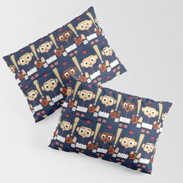 Baseball Navy, Red and White - Super cute sports stars Pillow Sham