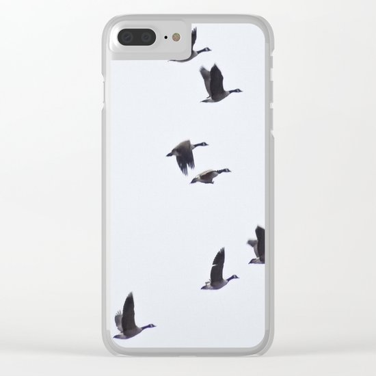 Birds -Scandinavian Minimalist Art Clear iPhone Case